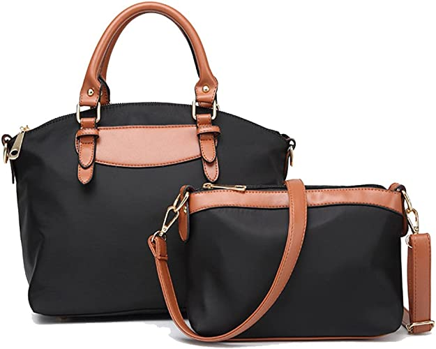 LADIES ENVELOPE CLUTCH LARGE SHOULDER BAG 2PCS PU LEATHER TOTE HANDBAG