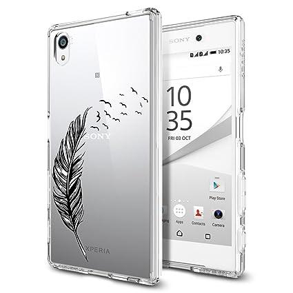 ocketcase Sony Xperia E5 Funda, TPU Carcasa Suave Silicona Flexible Gel Funda Resistente a los Arañazos Tapa Protectora Case Cover para Xperia ...