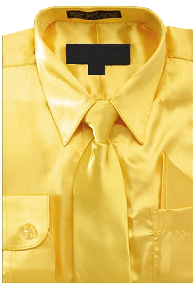 Boy's Satin Dress Shirt with Matching Tie and Hanky Set NTP-BS3010P2