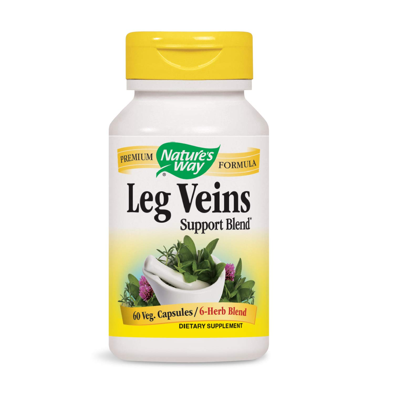Nature's Way Leg Veins Support Blend; with Tru-OPCSTM; Vegetarian; 60 Vegetarian Capsules (Packaging May Vary)