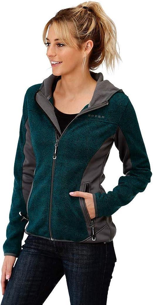 03-098-0780-7107 Gy Roper Womens Grey Contrast Softshell Jacket