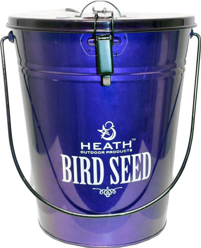Heath Bird Seed Storage Container, Purple