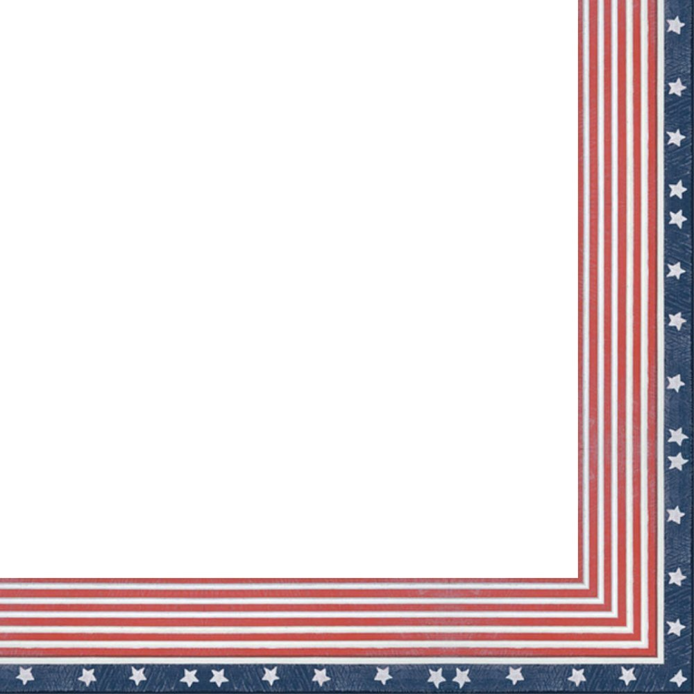 24x32 American Flag Wood Frame - Great for Posters, Photos, Art Prints, Mirror, Chalk Boards, Cork Boards and Marker Boards