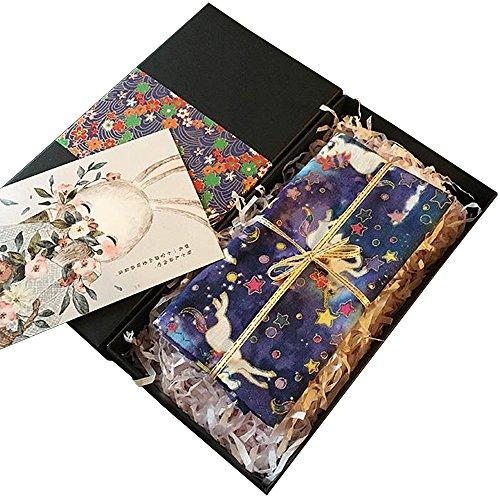 ankies Unicorn Printing Handkerchief Gifts Cartoon Handkerchief with Gift Box (purple) ()