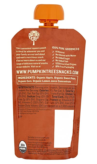 Peter Rabbit Organics Apple, Sweet Potato and Corn Puree, 4.4 Ounce Squeeze  Pouches (Pack of 10)  Amazon.com  Grocery   Gourmet Food b6c8662228