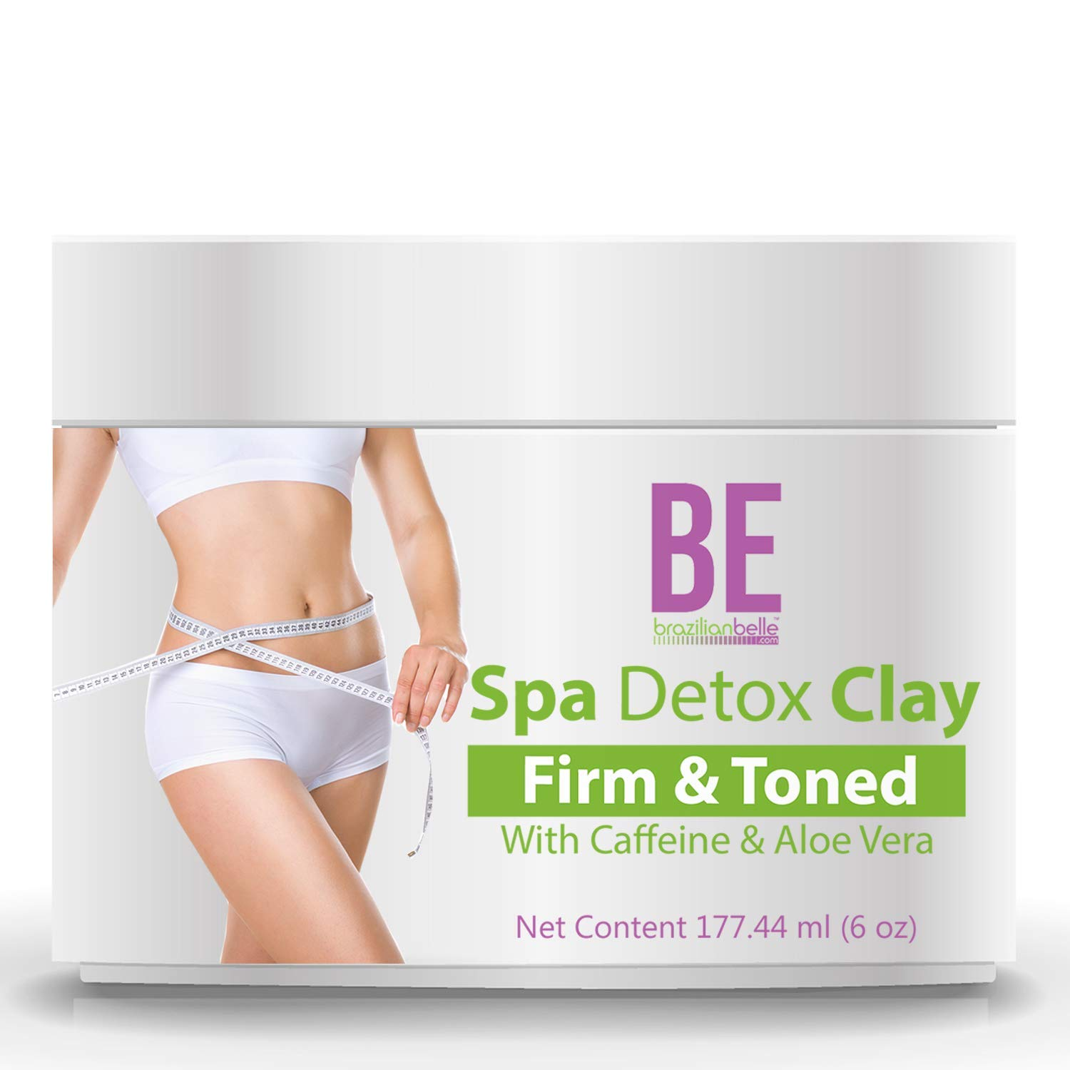 Brazilian Spa Detox Body Clay for Inch Loss Body Wraps, Detox and Cleanse -Rejuvenate and Improves Skin Texture- All Natural Ingredients - 6 oz : Beauty