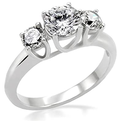 Past Present Future Ring Love Promise Ring Cubic Ziconia