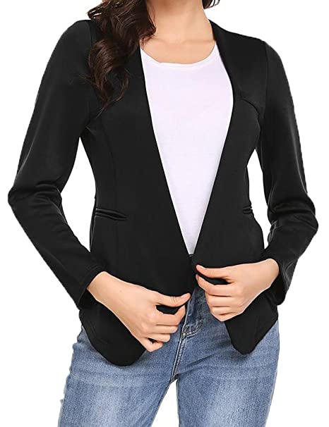 shop blk jackets jacket rvca remake product draped drapes blazer womens