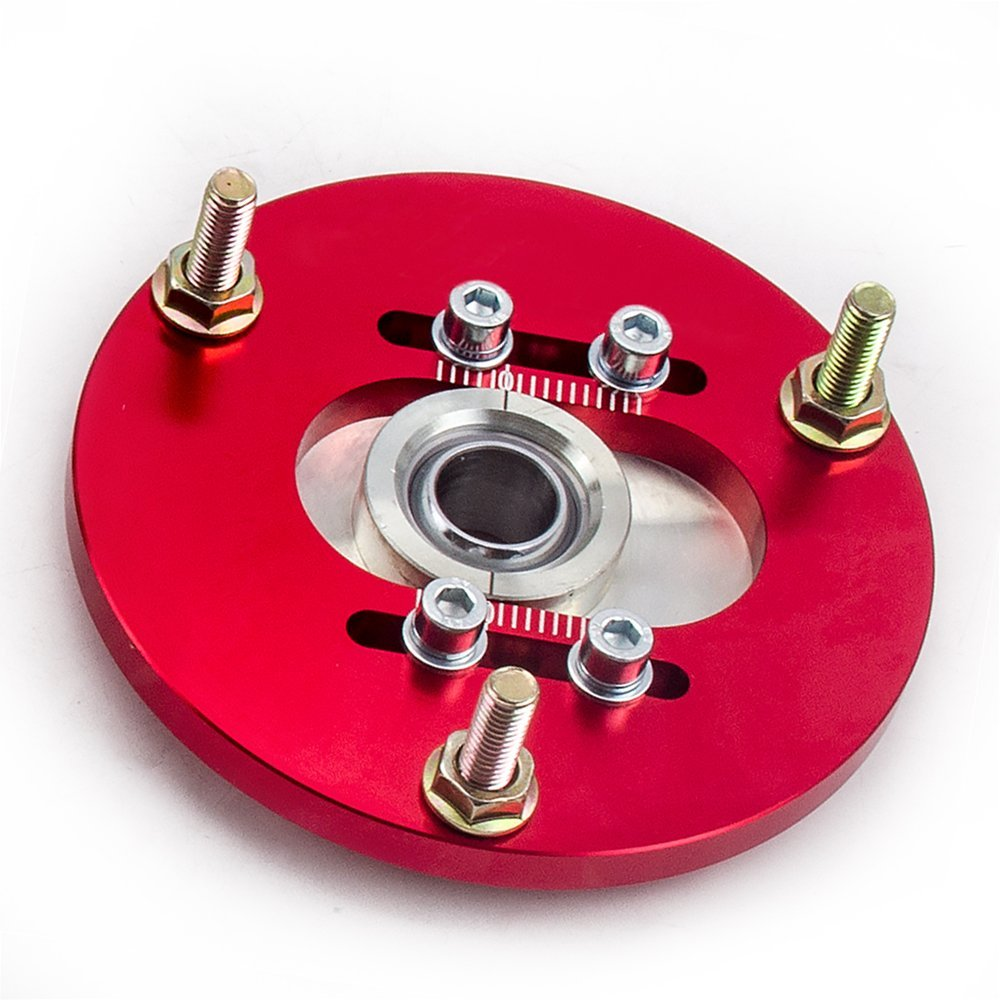 Red maXpeedingrods Front Coilover Top Mounts Camber Plates for BMW 3 Series E36 1992 1993 1994 1995 1996 1997 1998 1999