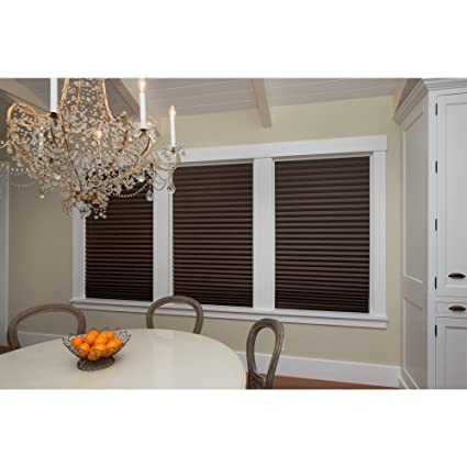 Amazoncom Redi Shade Pleated Paper Chocolate Brown Window Shade 4