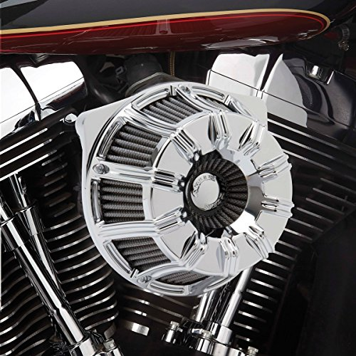 Arlen Ness 18-940 Chrome Inverted Series Air Cleaner Kit - Arlen Ness Motorcycle Jacket