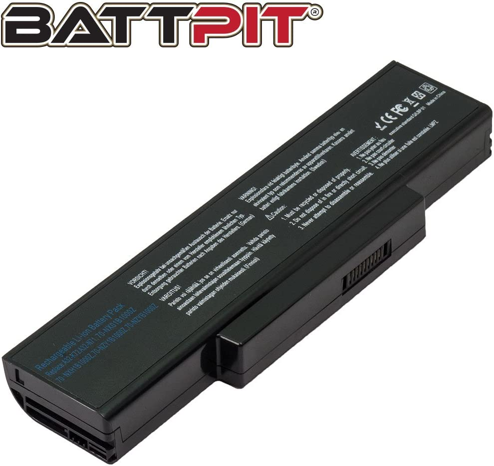 Battpit/™ Laptop//Notebook Battery Replacement for Asus A72 Series K72 Series K73 Series N71 Series X72 Series X77 Series A32-K72 A32-N71 Ship from Canada 4400mAh // 48Wh