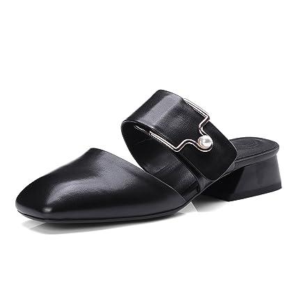 b1c12b3a XUE Zapatos de Mujer PU Summer Comfort Sandalias/Pantuflas y Chanclas  Zapatos Ligeros y Transpirables