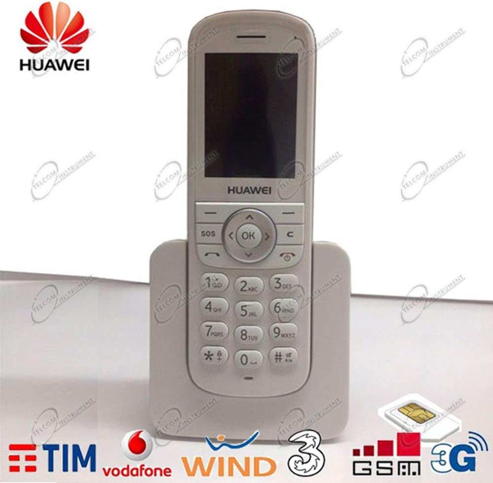 Teléfono inalámbrico 3 G/GSM Huawei ETS3 para tarjetas SIM de Tim Vodafone Wind Tre: Amazon.es: Electrónica