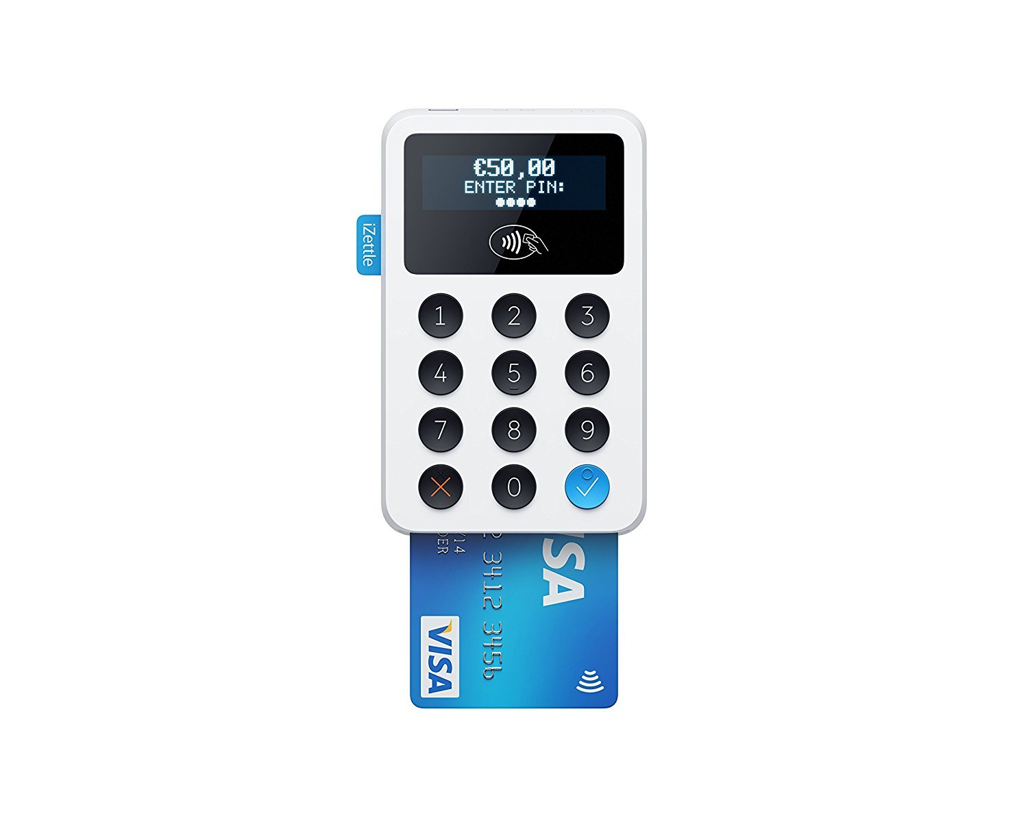 Izettle New Style White lettore di schede Pro  –   contactless lettore di chip & PIN 0008EU01 izettle reader-white new style