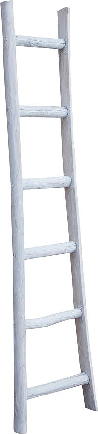 Biscottini - Escalera de madera decorativa - Toallero - Ideal para baño, dormitorio y otros ambientes - 44 x 8 x 180 cm: Amazon.es: Hogar