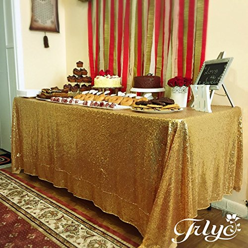 TRLYC 60 Inch 105 Inch Sequin Table