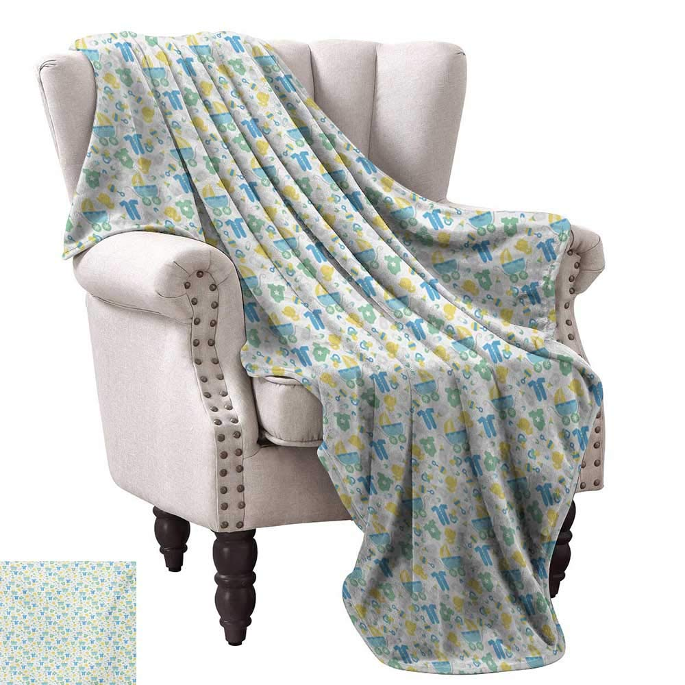 color04 30 Wx50 L WinfreyDecor Baby Super Soft Blankets Sleepy Morning and Night for Kids Boys Girls Moon Rainy Clouds Stars Sun Cozy for Couch Sofa Bed Beach Travel 60  Wx60 L Earth Yellow Sky bluee