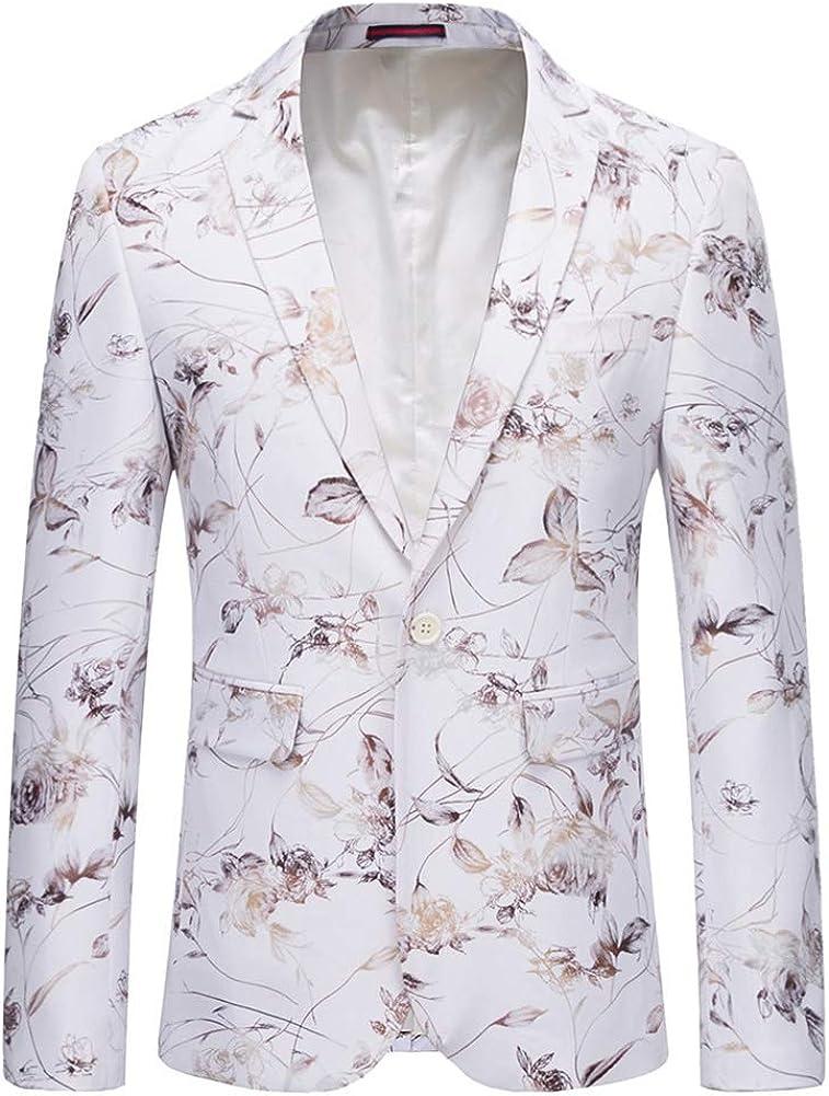 YOUTHUP - Blazer - Floral - para Hombre Blanco Blanco XL