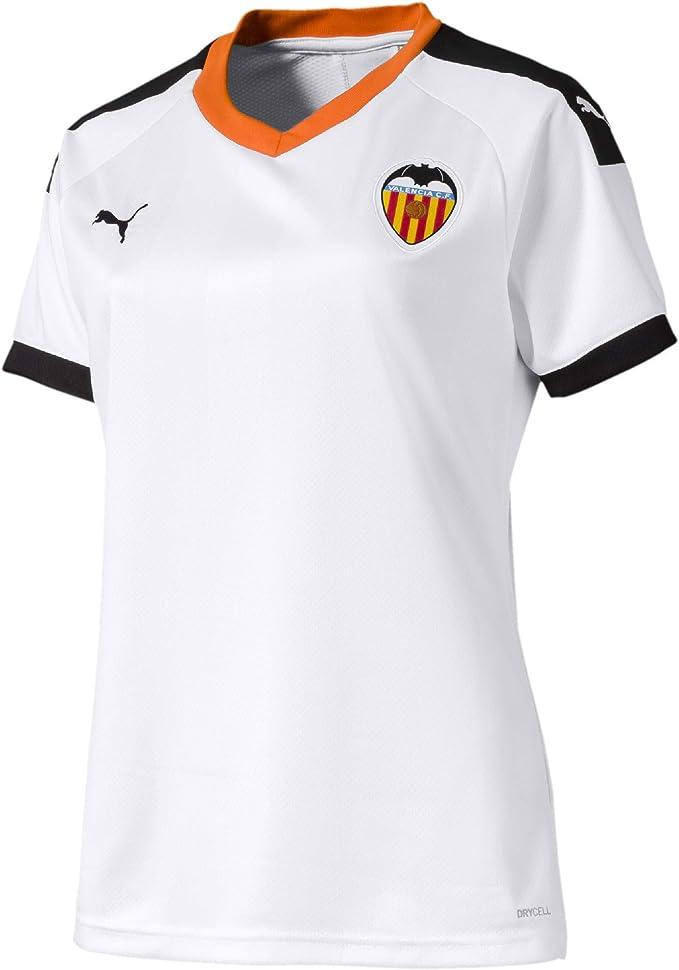 PUMA Valencia CF Primera Equipación 2019-2020 Mujer, Camiseta, White Black-Vibrant Orange: Amazon.es: Deportes y aire libre