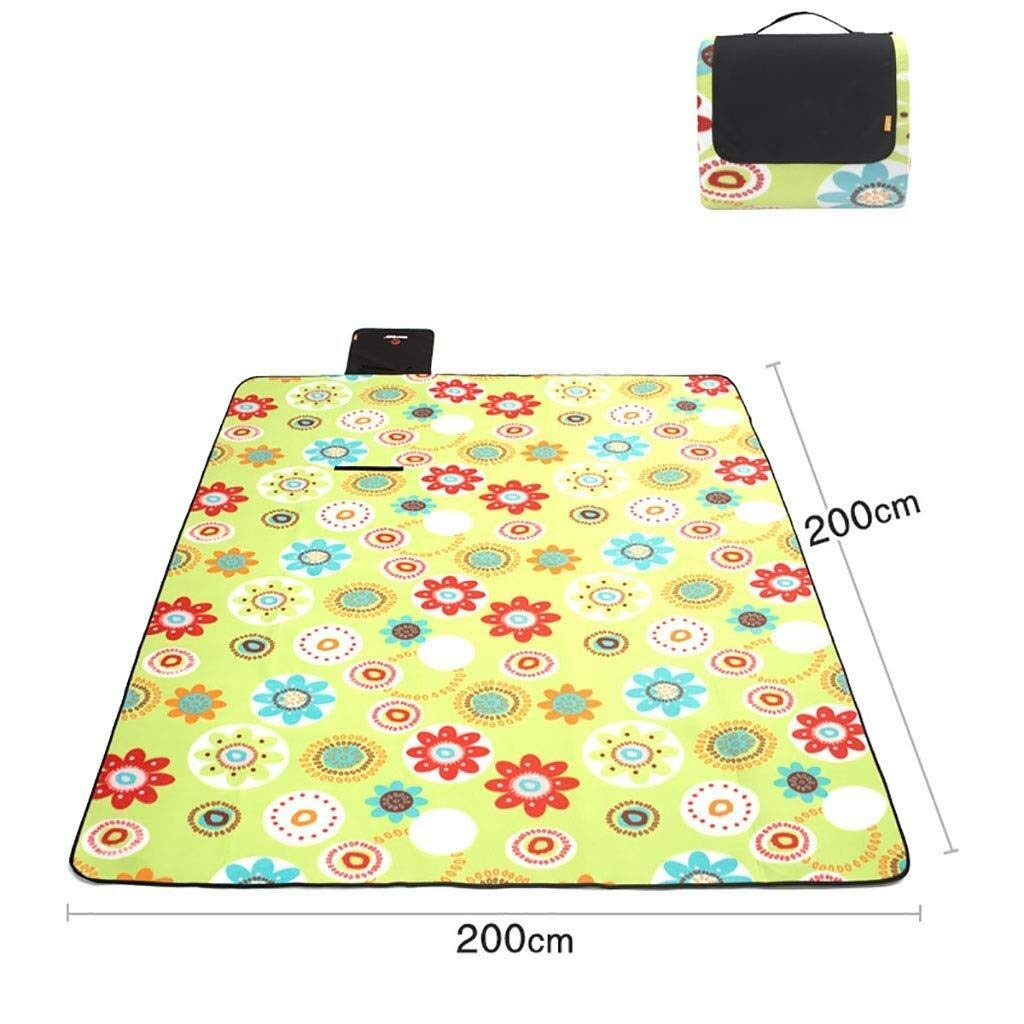 ZKKWLL Picnic Blanket Picnic mat Folding Picnic Blanket Fleece Waterproof Backing Travel Picnic Rug Outdoor Beach Camping Beach mat Beach mat (Color : A) by ZKKWLL