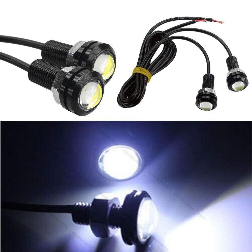 Tiswell 9/W LED Ojo De /Águila Blanco Luz Niebla Durante el d/ía Running Light Car luces de cola