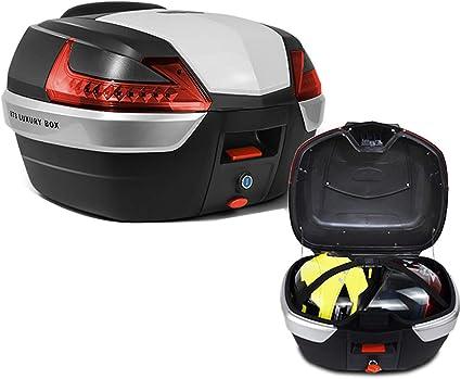 Ymhbx 42l Mode Helmkoffer Motorradkoffer Qualität Pp Motorrad Top Back Box Kofferraum Helme Koffer Kann 2 Helme Halten Schnelle Demontage Küche Haushalt