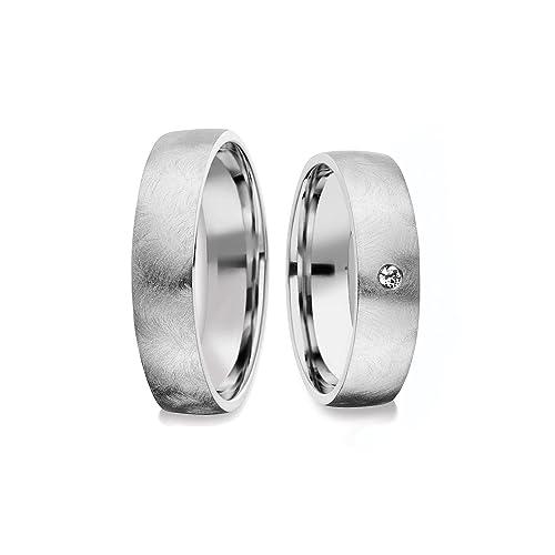 alianzas Trau Juego de anillos plata 925 Diamante par de precio asequible anillos de compromiso alianzas