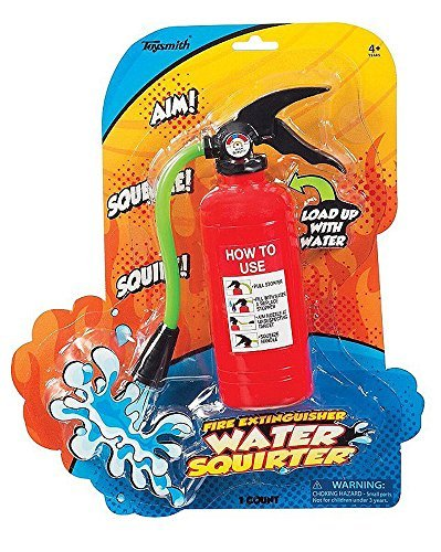 (Fire Extinguisher Portable Water Gun Squirter Summer Firefighter Toy For)