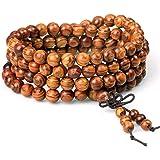 wintefei Women Men 8mm Wooden Bead Buddhist Prayer Mala Necklace Bracelet Gift Jewelry