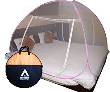 Antiliy Pink Double Bed Mosquito Net