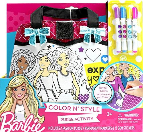 Tara Toys Barbie Princess Power Color N' Style Purse Playset
