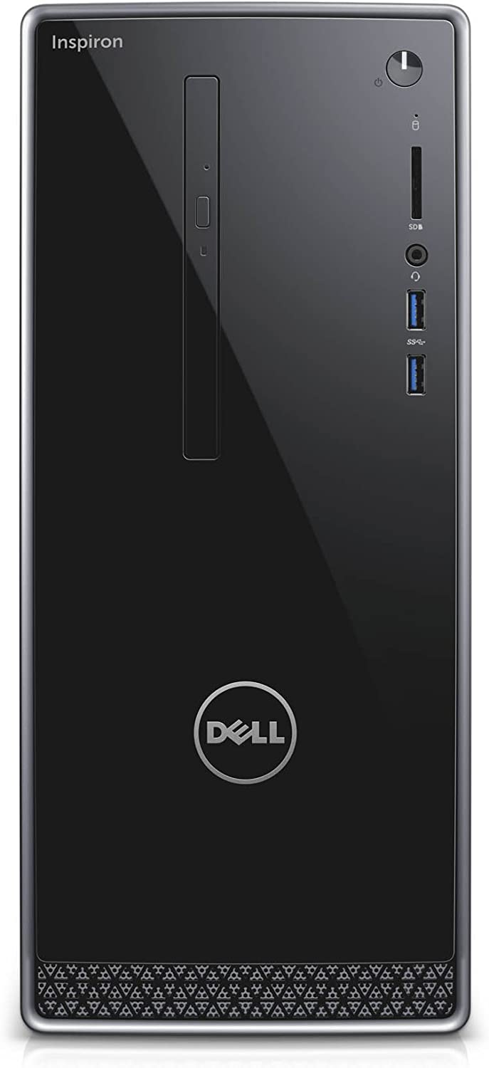 Dell i3668-3106BLK-PUS Inspiron, (7th Generation Core i3 (up to 3.90 GHz), 8GB, 1TB HDD), Intel HD Graphics 630, Black with Silver Trim