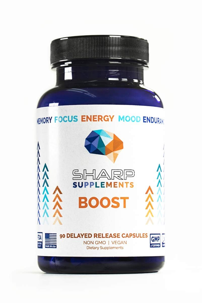 Focus & Memory Nootropic Supplement for Mental Performance | Brain Boost