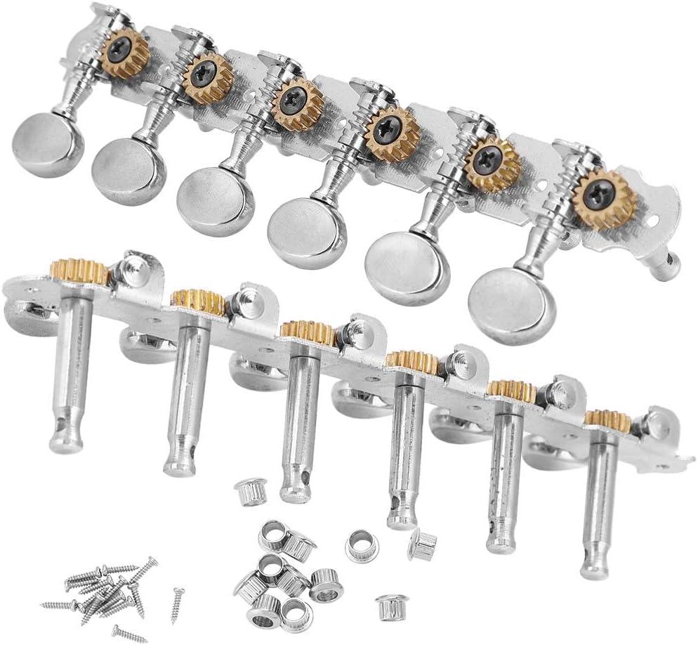 Clavija de Afinación de Guitarra, 6+6 Claves de Afinación de Guitarra Cabezales de Máquina de Aleación de Zinc Sintonizadores Abiertos para Guitarra de 12 Cuerdas