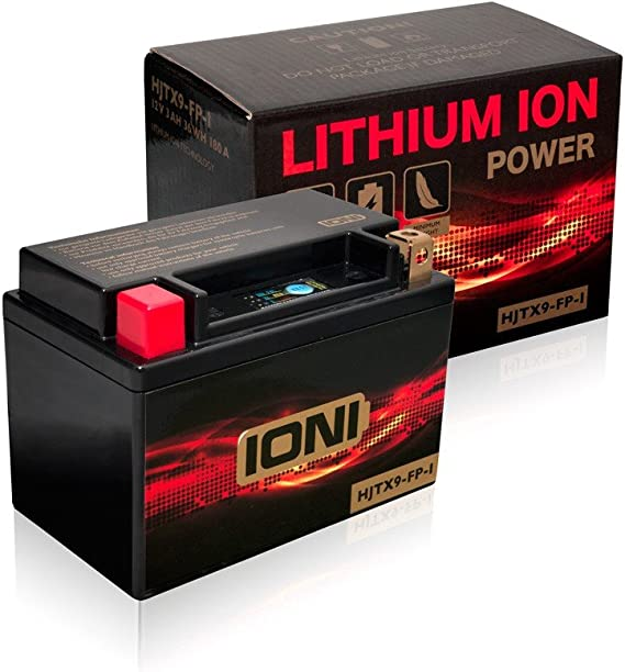 Motorrad Batterie Lithium Ionen 12v 3ah 36wh 180a Ioni Ion Typ ähnlich Ytx9 Bs Hjtx9 Fp I Auto