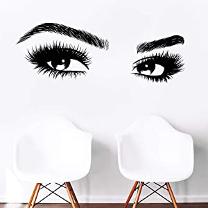 Melissalove Beauty Salon Quote Wall Decal Stickers Make Up Store Home Decoration Murals (LC464 Black)