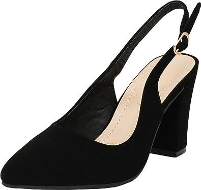 b29647dd40091 Cambridge Select Women's Closed Pointed Toe Slingback Chunky Block Heel Pump