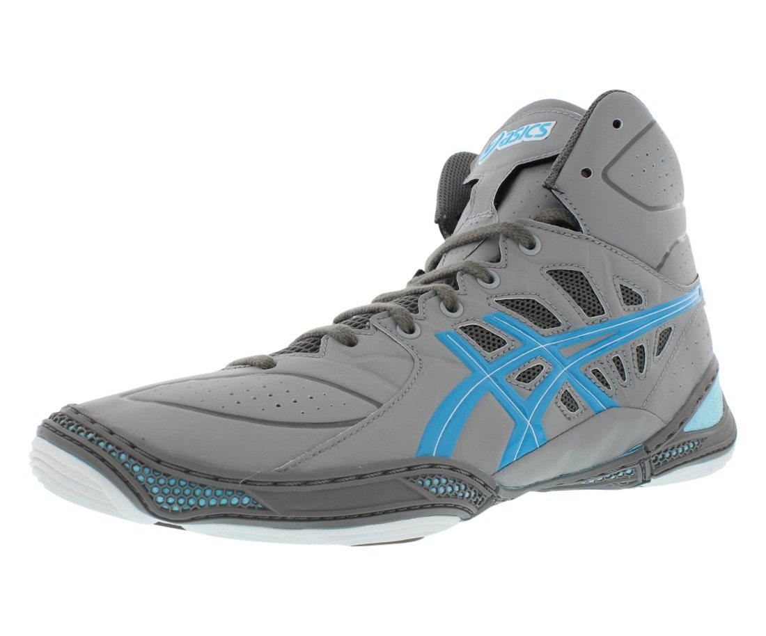 ASICS Men's Dan Gable Ultimate 3 Wrestling Shoe,Silver/Malibu/White,10 M US