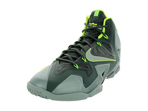 c9998f8fee4 Nike Lebron James XI Men s Basketball Shoes Sneakers Green Size 10 ...