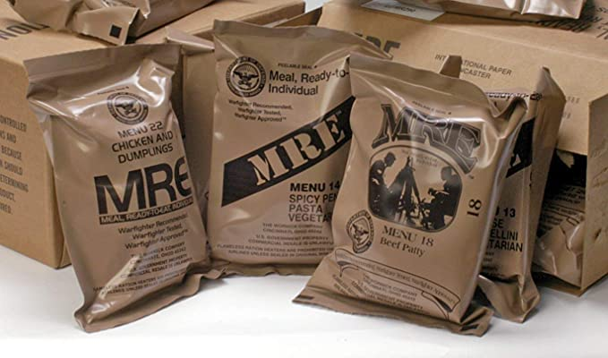 MREs (Meals Ready-to-Eat) Genuine U.S. Military Surplus Assorted Flavor  (4-Pack): Amazon.com: Grocery & Gourmet Food