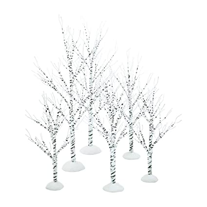 Amazon Com Department 56 Village Winter Birch Wrapped Wire Set Of