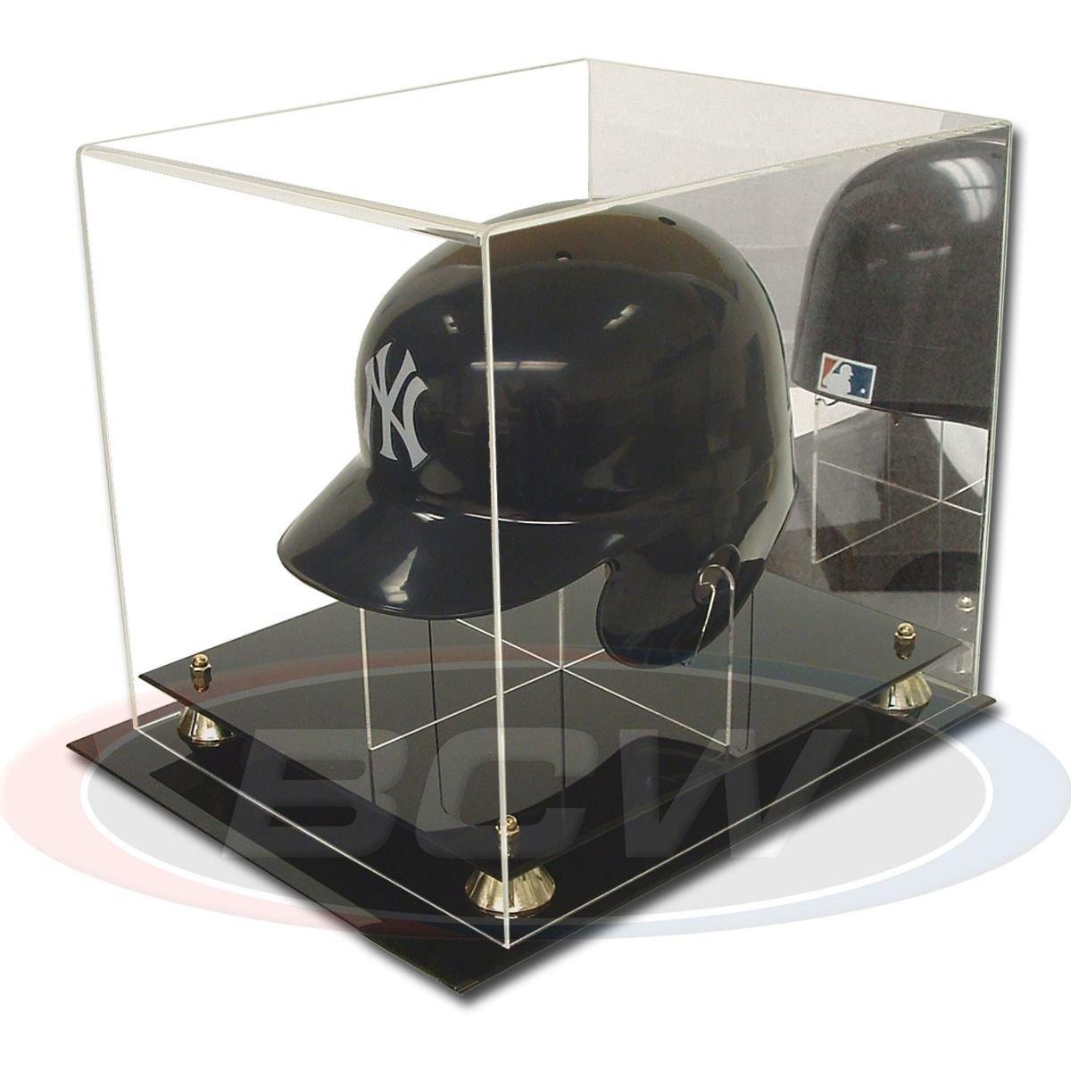 BCWアクリルフルサイズ野球ヘルメットディスプレイケース背面がミラースタンド B07CRDN9TS