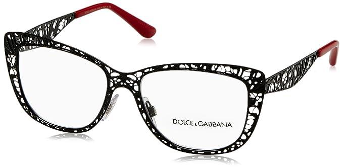 e5943083916 Amazon.com  Dolce   Gabbana Women s DG1287 Eyeglasses Black 52mm ...