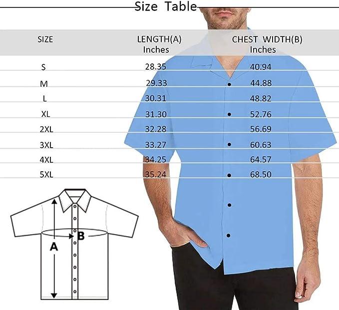 Funny Leaves Flamingo Casual Button Down Shirt Custom Face Hawaiian Shirt Short Sleeve for Men