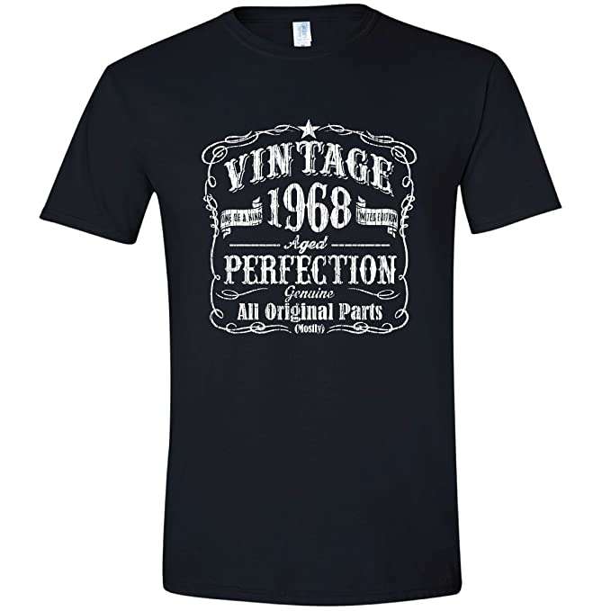 Amazon Feisty And Fabulous Vintage Made In 1968 Birthday Gifts Men 50th T Shirt Tee Clothing