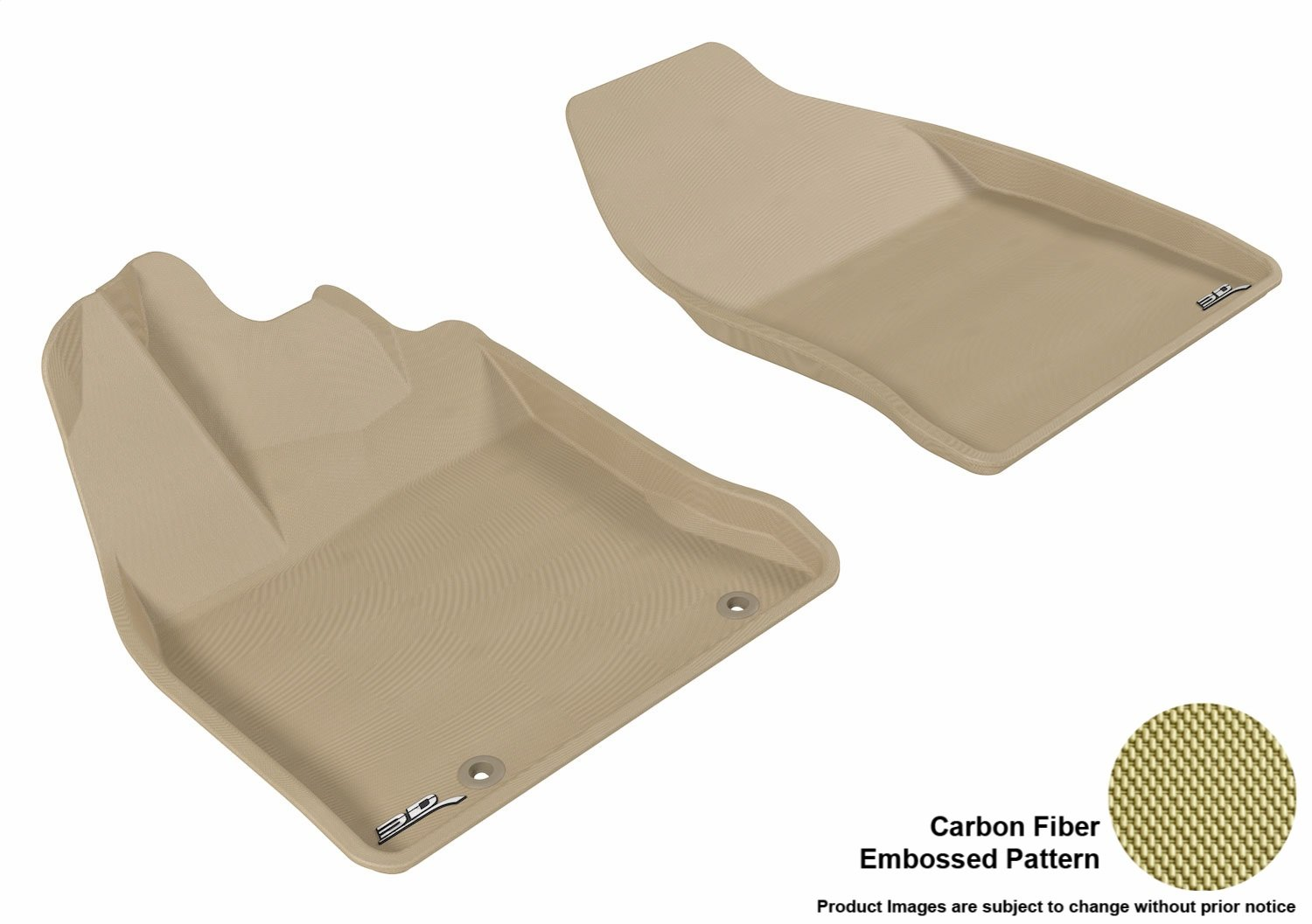 Classic Carpet 3D MAXpider Complete Set Custom Fit Floor Mat for Select Lexus GX460 Models Tan