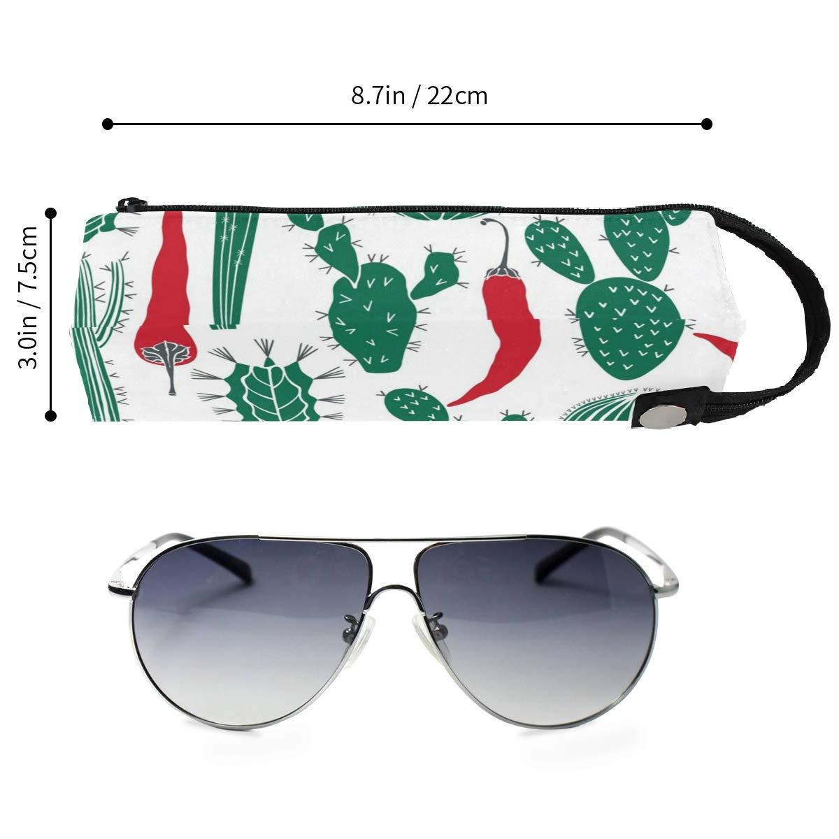 My Little Nest Eyeglass Sunglasses Holder Pouch Bag Cactus Pepper Multi Function Zipper Pen Case Pencil Bag Organizer