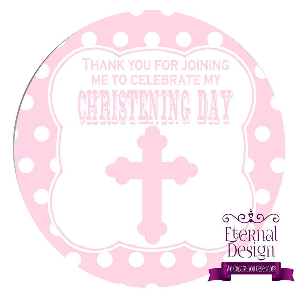Eternal Design 48 x 30mm Christening Day White Stickers CDCS 15