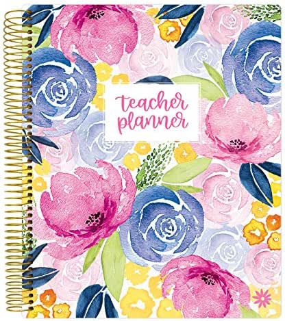 bloom daily planners Undated Academic Year Teacher Planner - Lesson Plan Calendar Book - 9
